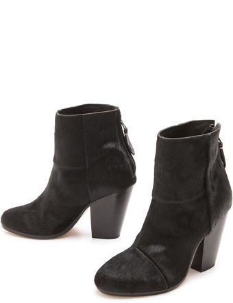 Rag & Bone Haircalf Newbury Booties - Lyst