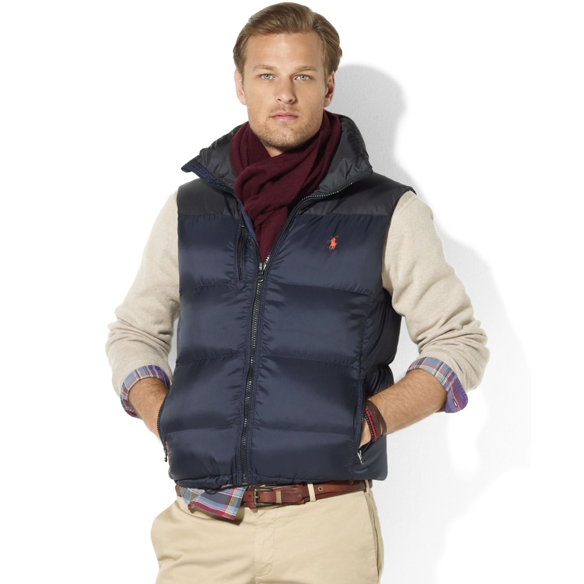 630494430c4 Lyst - Ralph Lauren Snow Polo Core Trek Down Vest in Blue for Men