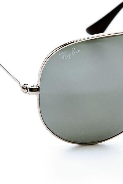 971a92f8c79 Ray-ban Mirrored Original Aviator Sunglasses - Silver in Silver