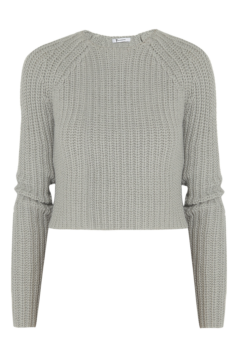 T by alexander wang Chunky Knit Cotton Blend Cropped Sweater in ...