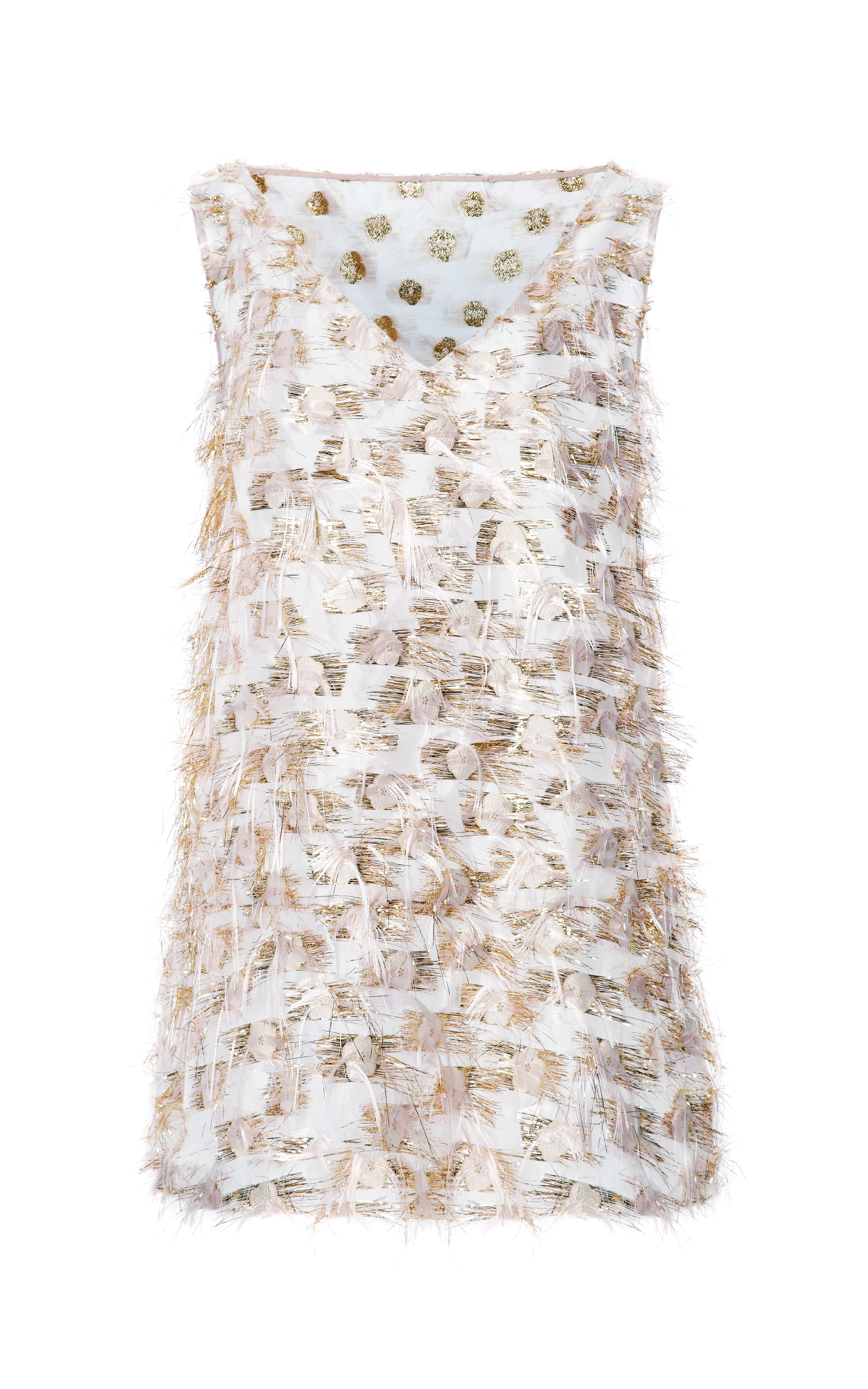 thakoon fil coupe jacquard trapeze dress in white white gold lyst. Black Bedroom Furniture Sets. Home Design Ideas