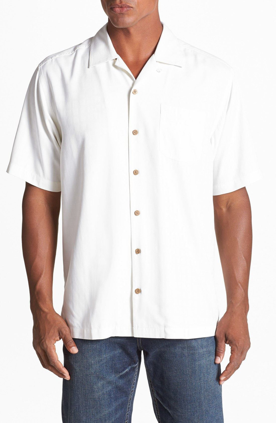 Tommy Bahama Operation Olive Drop Camp Shirt In White For
