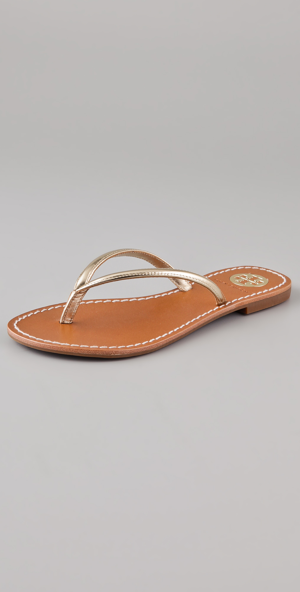 Lyst - Tory Burch Abitha Flip Flops In Metallic-8274