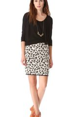 Velvet Belen Leopard Pencil Skirt - Lyst