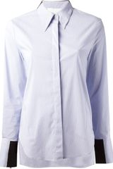 3.1 Phillip Lim Panel Detail Shirt - Lyst