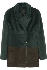 Alexander Wang Brushed-alpaca and Wool-blend Jacket - Lyst