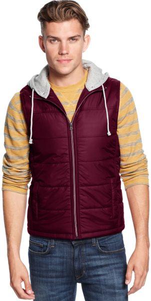 american rag hooded vest in for vintage