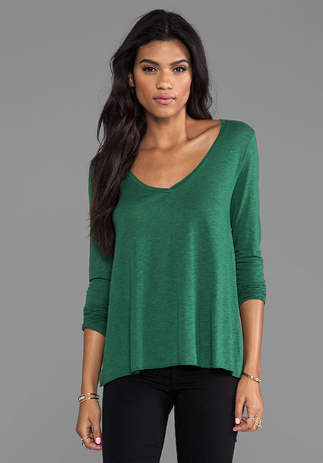 lyst american vintage jacksonville long sleeve tee in green in green. Black Bedroom Furniture Sets. Home Design Ideas