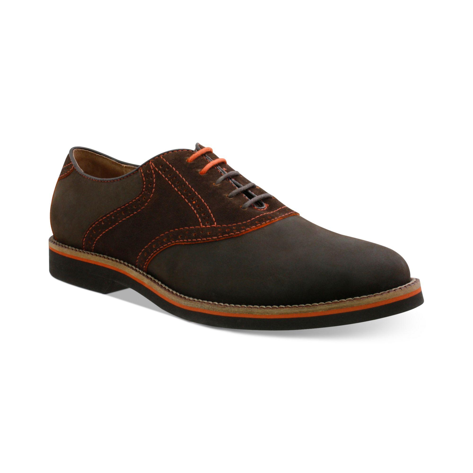 g h bass co burlington plaintoe saddle shoes in brown