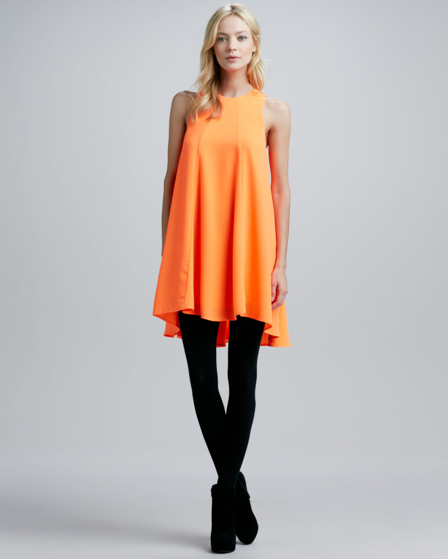 Cameo Lifesize Sleeveless Tent Dress In Orange