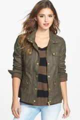 Caslon® Coated Cotton Twill Jacket - Lyst