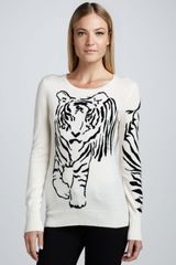 Christopher Fischer Tiger Intarsia Cashmere Sweater - Lyst