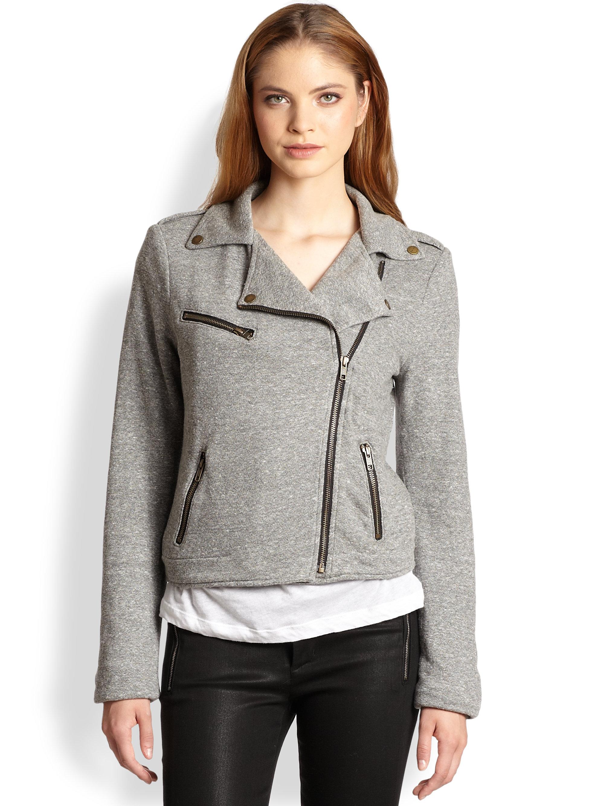 Jersey biker jacket womens