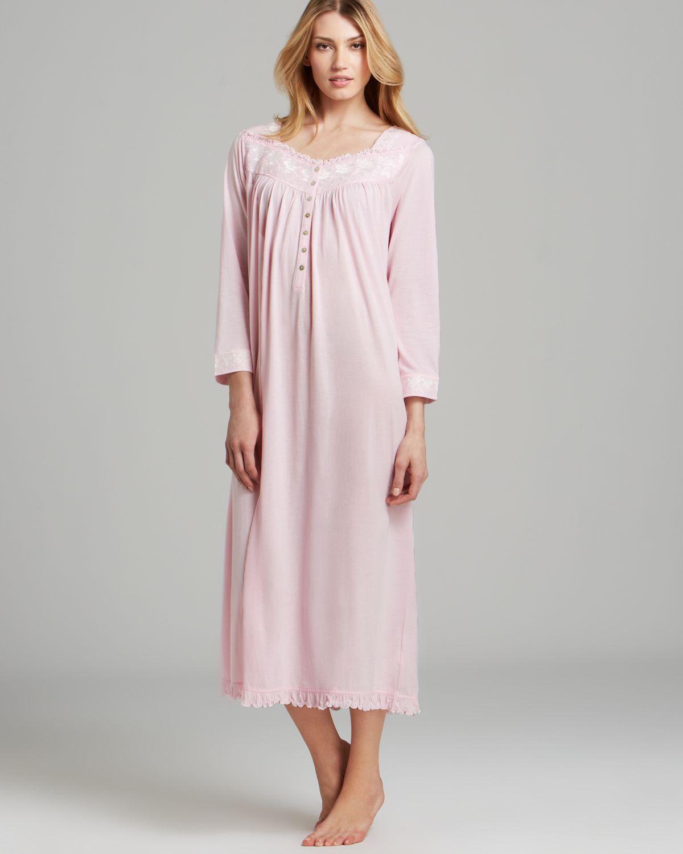 Lyst - Eileen West Blissful Poetry Long Sleeve Ballet Nightgown in Pink
