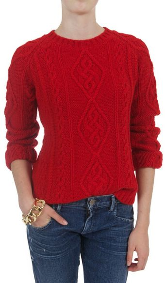 Goat Sonny Cable Crew Sweater - Lyst
