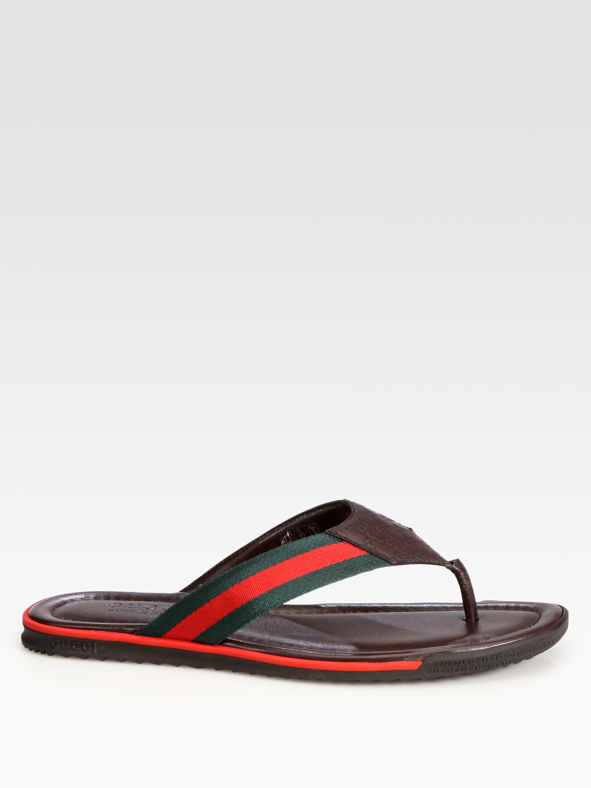 c1c974d8b Lyst - Gucci Thong Sandals in Brown for Men