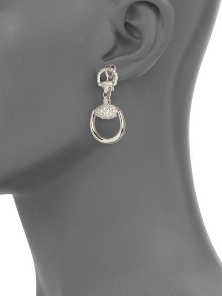 Gucci White Gold Earrings White Gold Drop Earrings