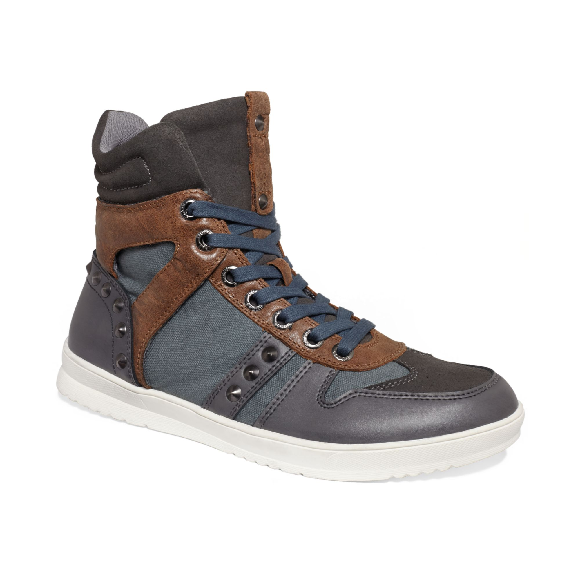 Guess Mens Shoes Tredd Sneakers In Gray For Men Lyst