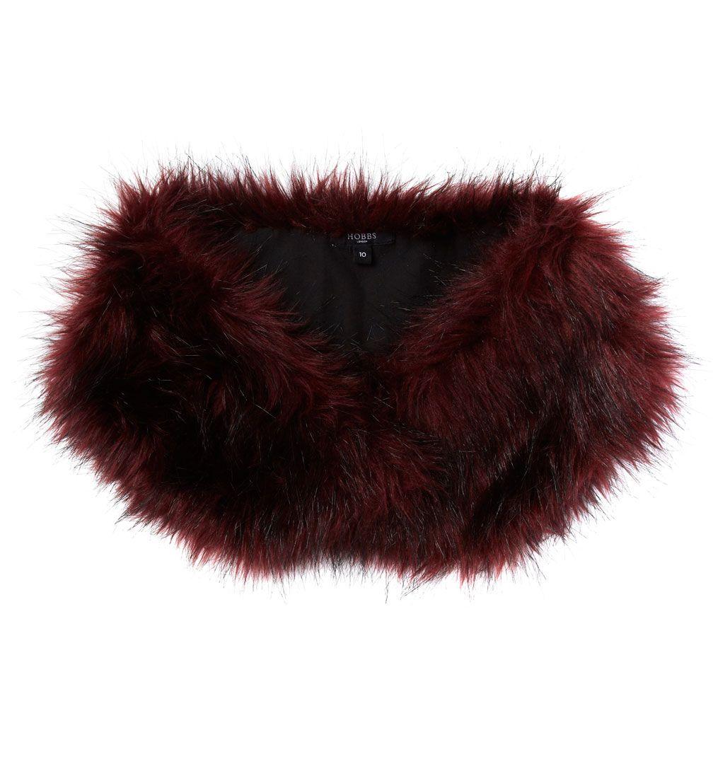Hobbs faux fur stole in purple lyst - Stoel fur ...