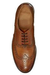 John Lewis Bentley Storm Leather Brogue Shoes in Brown for Men (Cognac) - Lyst