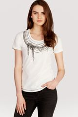 Karen Millen Bead and Necklace Print Tee - Lyst
