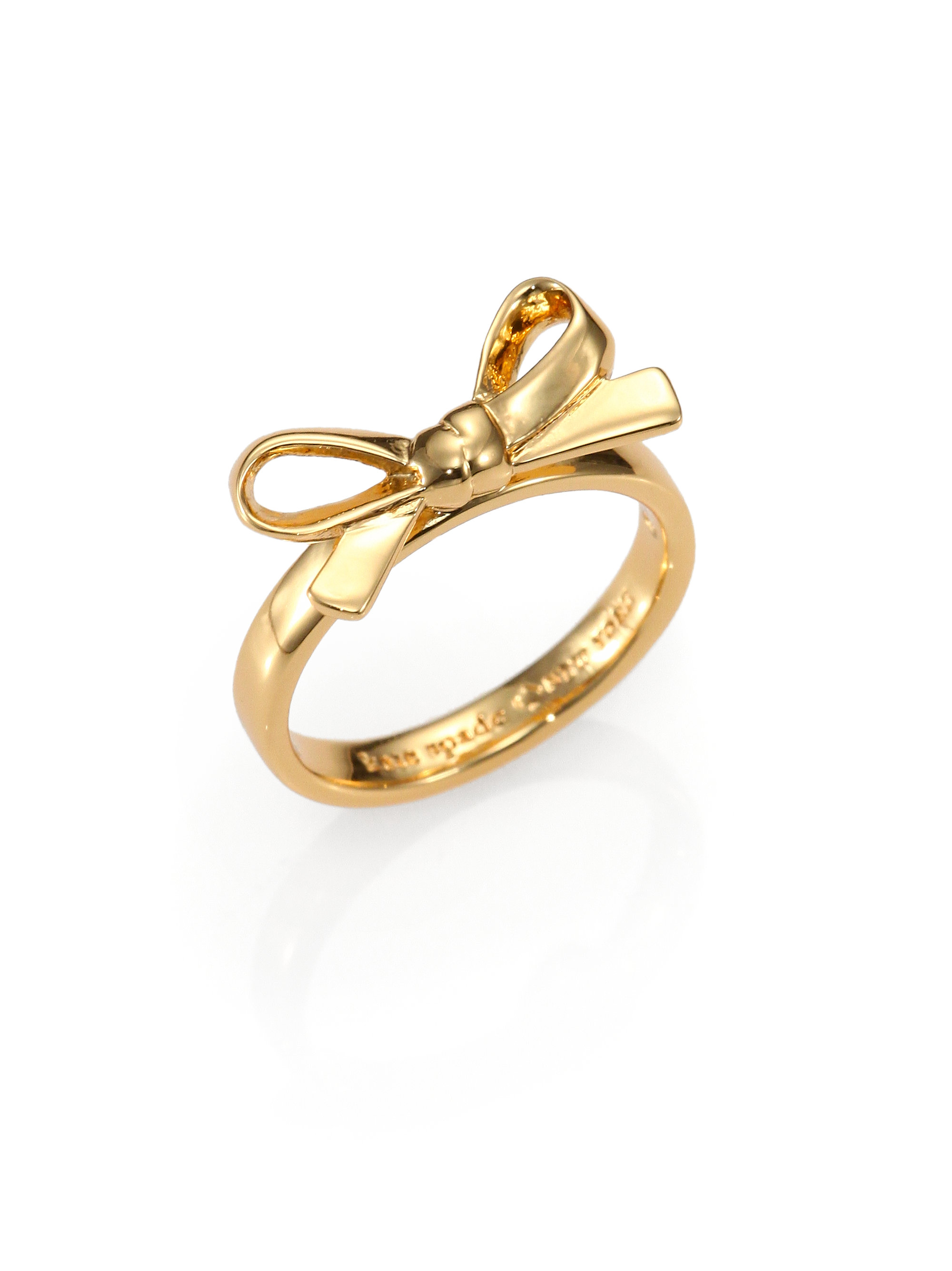 Ring Bow Il Gioiello Personalizzabile Con La Tua Nailart: Kate Spade Bow Ring In Gold