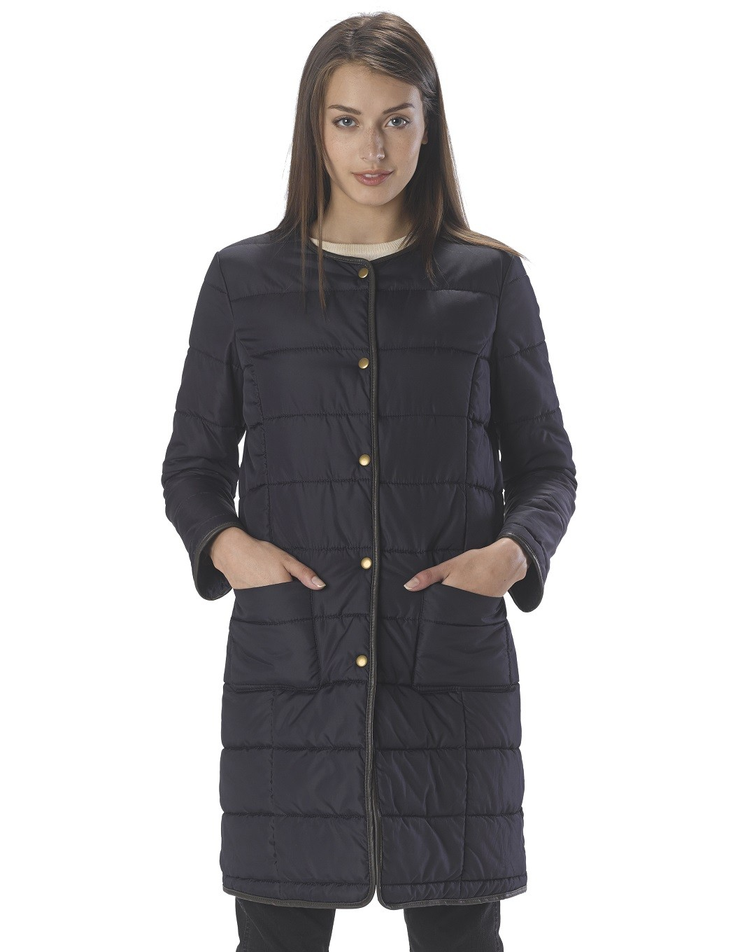 Lyst Kule Beacon Quilted Fitted Jacket In Blue