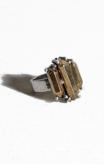 Low Luv X Erin Wasson Three Metal Crystal Ring - Lyst