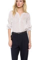 Marc By Marc Jacobs Minetta Print Blouse - Lyst
