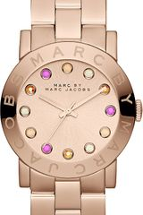 Marc By Marc Jacobs Amy Rose Gold Toned Watch - Lyst