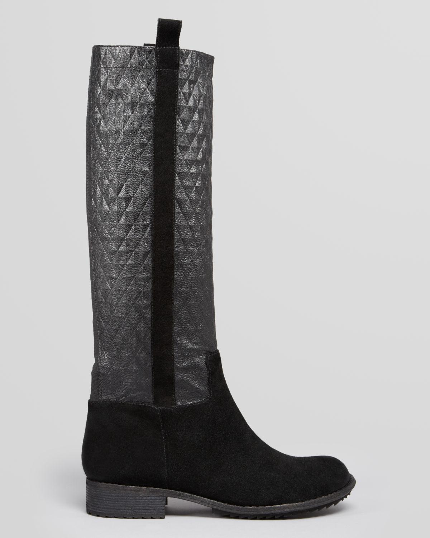Lyst Matt Bernson Tall Flat Boots Roark Quilted In Black