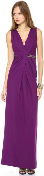 Matthew Williamson Twisted Drape Column Gown - Lyst