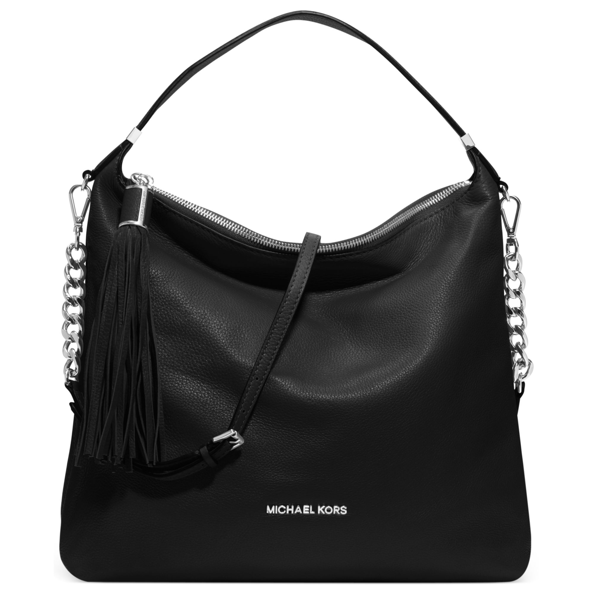 Michael kors Mia French Calf Envelope Shoulder Bag in Black - Save ...