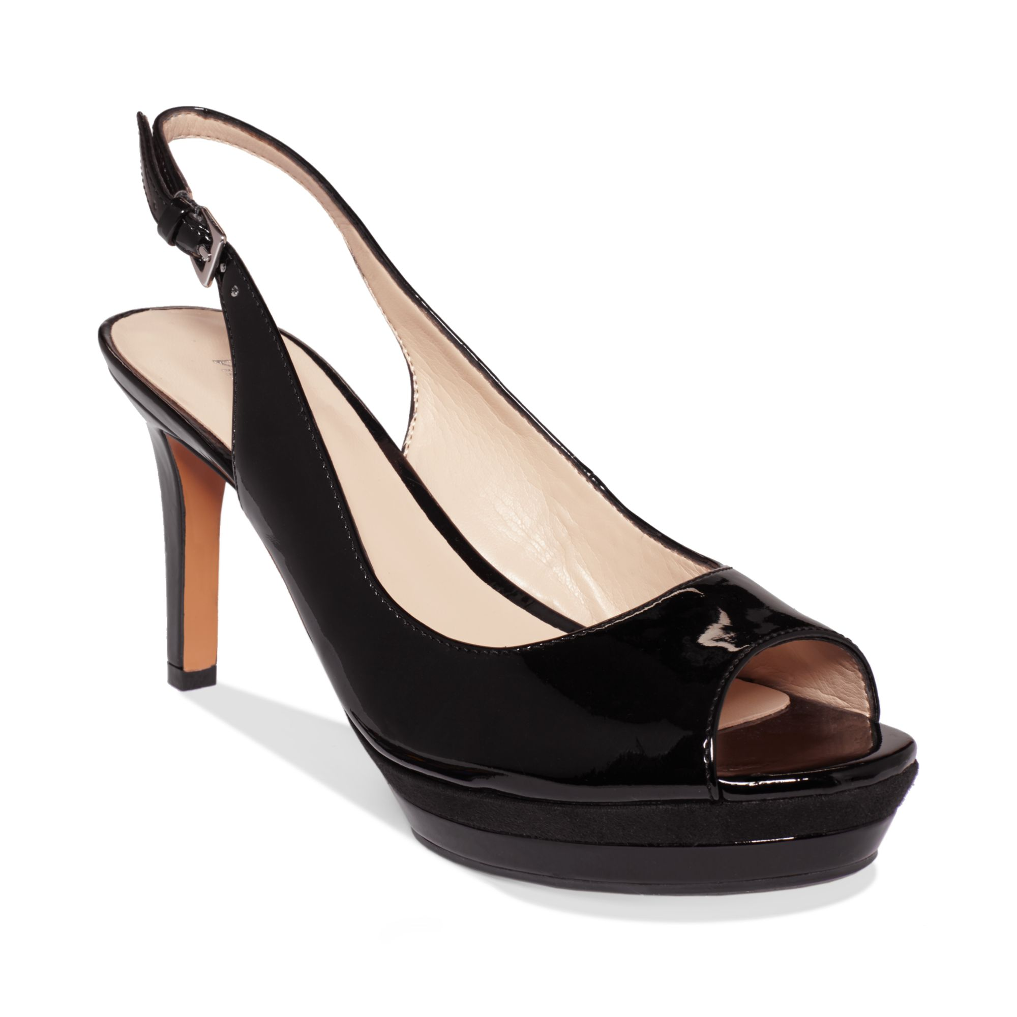 13a117ae5864 Lyst - Nine West Able Slingback Platform Pumps in Black