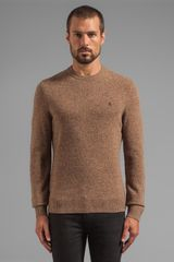 Penguin Pullover W Elbow Patches in Taupe - Lyst