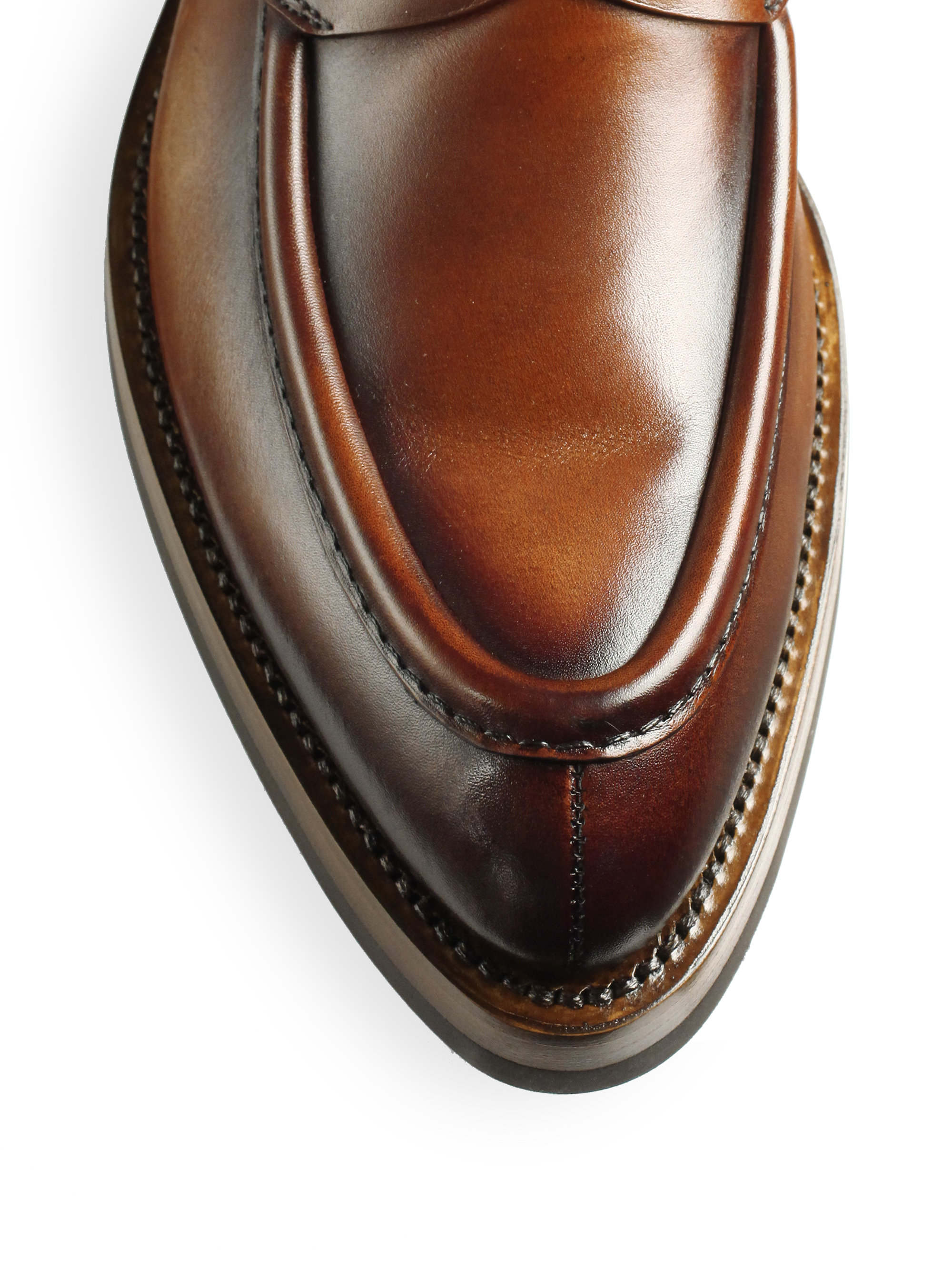 a6cd4bf93b5 ... discount code for lyst prada runway penny loafers in brown for men  c8098 9a4c9