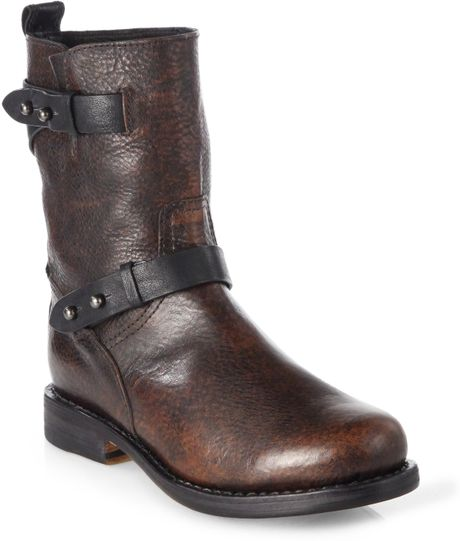 Cool Xelement Womenu0026#39;s Classic Harness Distressed Brown Motorcycle Boots - Size  10 $84.95