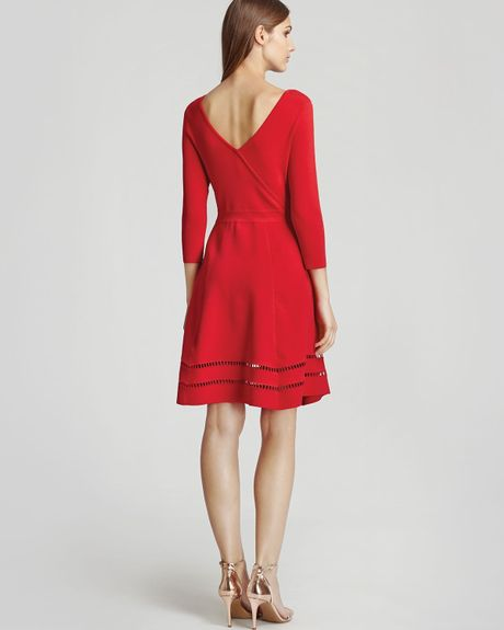 Reiss Dress Didsbury Fit And Flare In Red Lyst