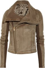 Rick Owens Shear-linglined Leather Biker Jacket - Lyst