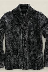 Rrl Plaited Shawl-collar Cardigan - Lyst