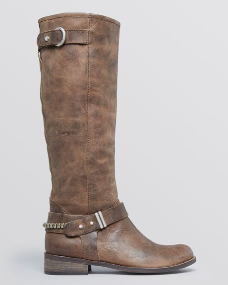 steven by steve madden boots ryley in brown lyst