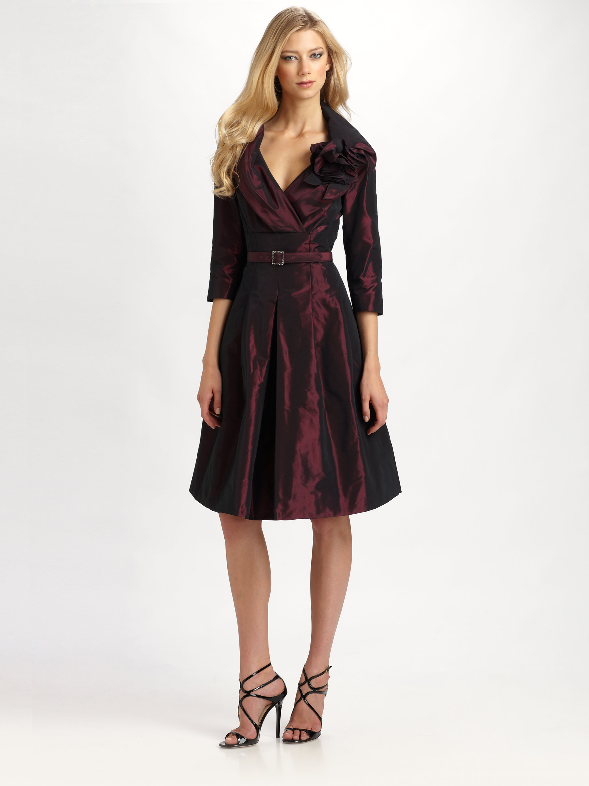 Red Taffeta Dress