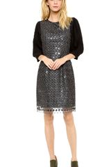 Thakoon Metallic Lace Sequined Dress - Lyst