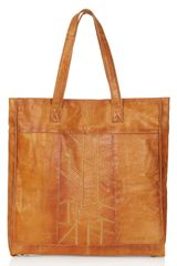 Topshop Patchwork Leather Tote Bag - Lyst
