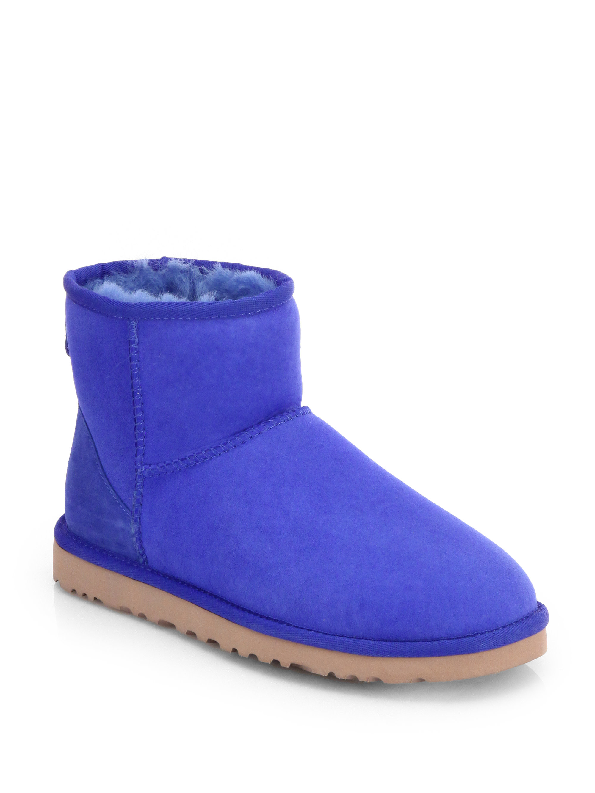 ugg classic mini suede boots in blue electric blue lyst. Black Bedroom Furniture Sets. Home Design Ideas