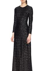 Whistles Sequin Evening Dress - Lyst