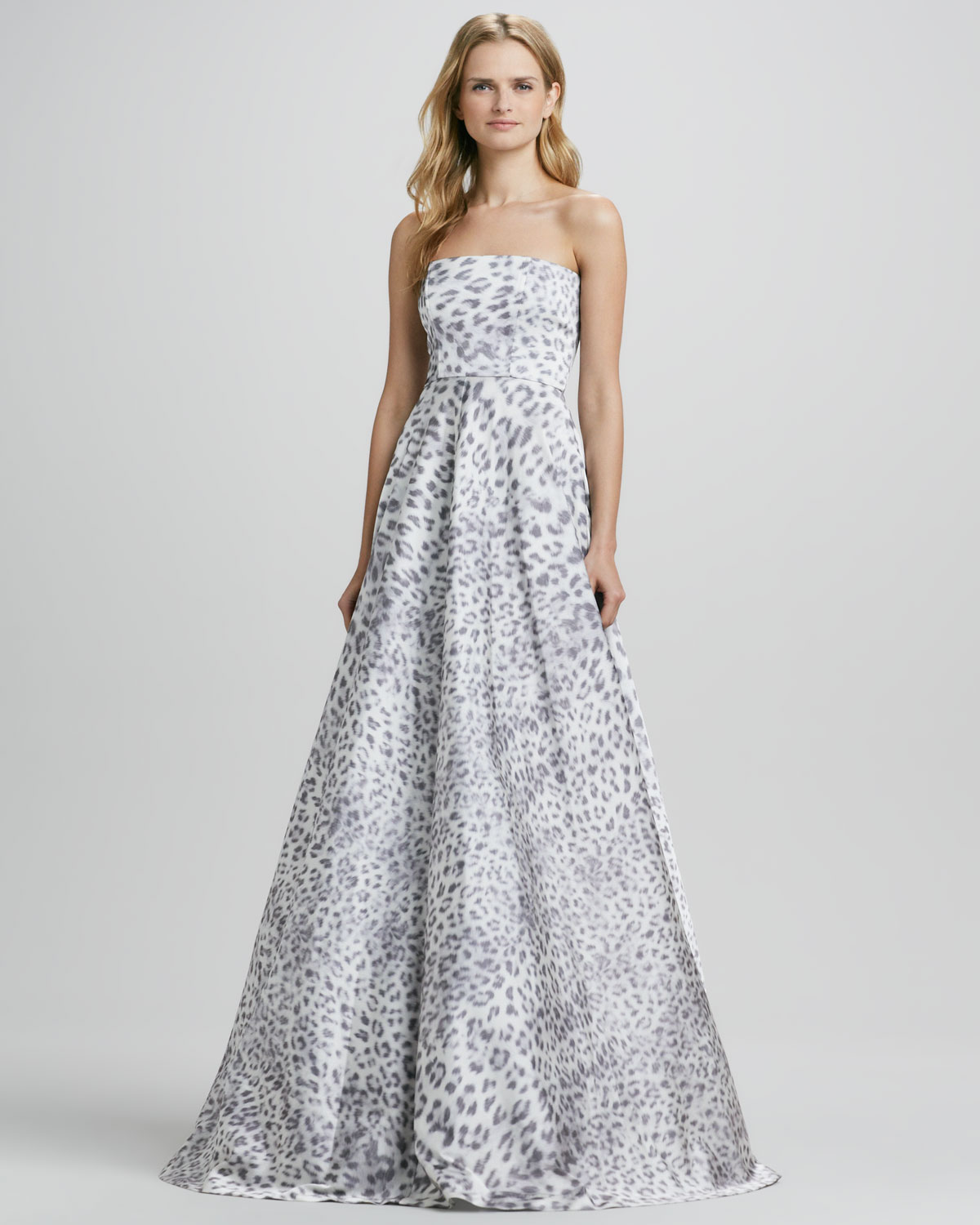 Lyst - Alexis Malene Leopard Strapless Ball Gown