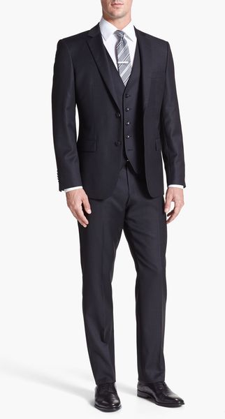 Boss by Hugo Boss Howardcourt Trim Fit Three Piece Suit - Lyst