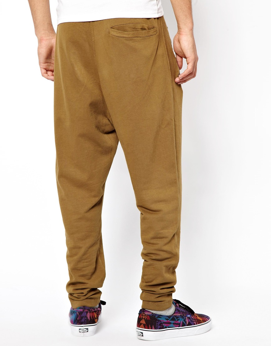 lyst fred perry cheap monday yayo sweat pants in natural