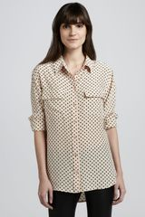 Equipment Signature Heartprint Blouse - Lyst